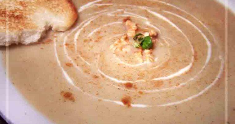 Zupa krem z selera z cynamonem i jabłkami
