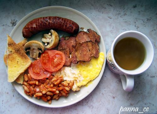 Tradycyjne brytyjskie śniadanie