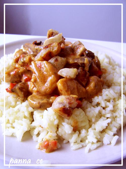 Curry z kurczakiem i bananami