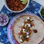 Domowe tacos z szarpanym kurczakiem