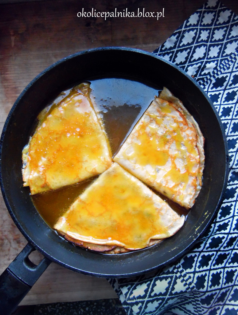 Crepes souzette – naleśniki w syropie pomarańczowym