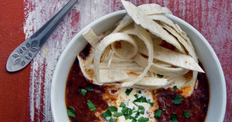 Meksykańska zupa fasolowa