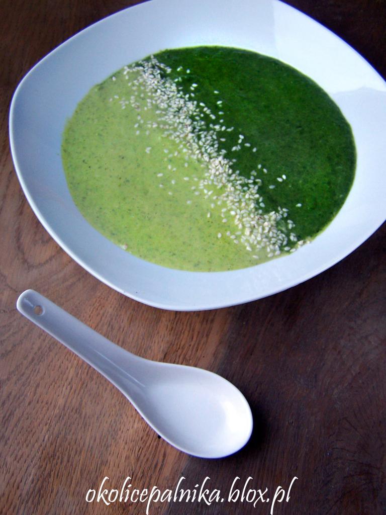 Dwukolorowa zupa krem