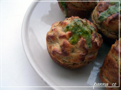 Wytrawne muffinki ziemniaczane z pesto