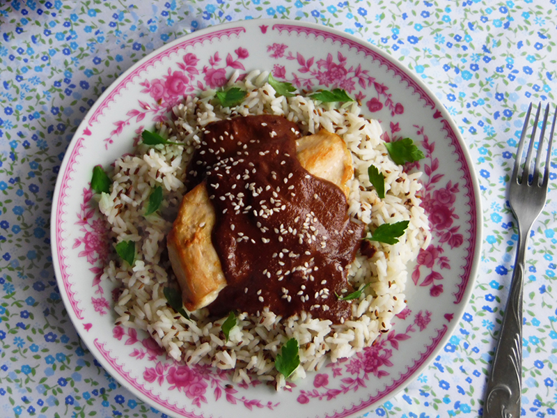 Kurczak w sosie mole