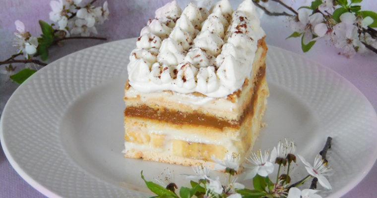 Bananowa krówka – ciasto bez pieczenia